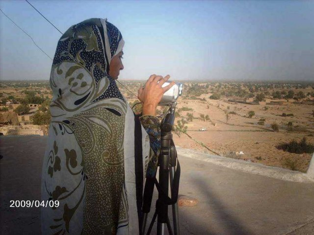 determined, undaunted  & daring Hakim Zaid during her recording from hilltop around Gaji Shah